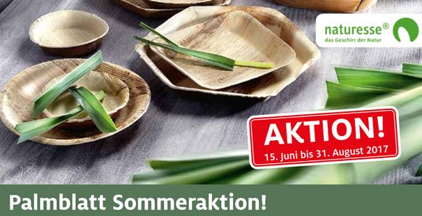 Palmblatt Sommeraktion vom 15. Juni bis 31. August 2017